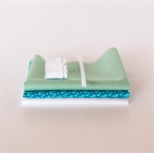Picture of Setje voor extra poppenjurk - Levendig Blauw - Pastel Groen