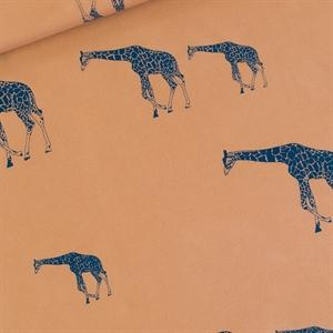 Bild von Giraffe - L - French Terry - Cathay Braun