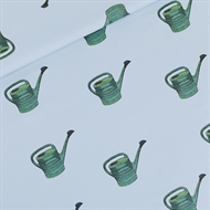 Afbeelding van Watering Cans - M - Katoen Gabardine Twill - Mistblauw