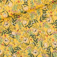 Afbeelding van Summer Flowers - S - Lycra - Dooiergeel
